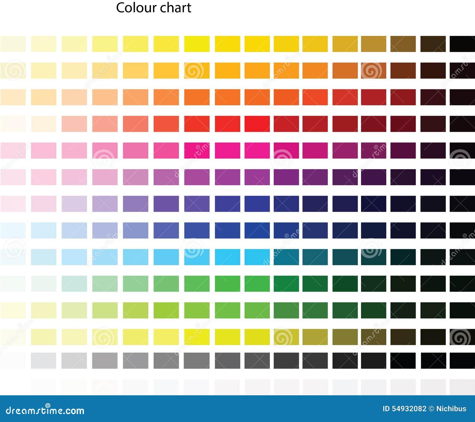 Farbpalette Stock Abbildung. Illustration Von Farbtöne
