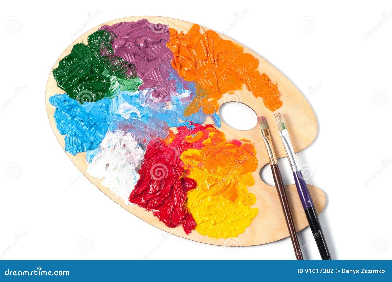 Farbpalette Mit Mehrfarbigen Farben Stockfoto Bild Von Blau Grün