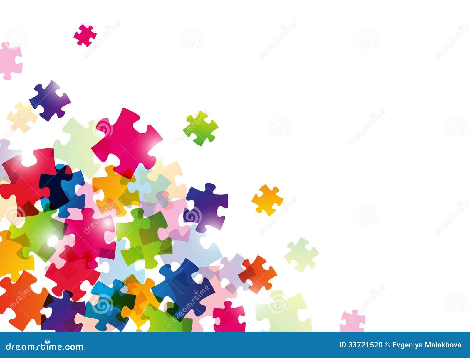 Farbpuzzlespielhintergrund