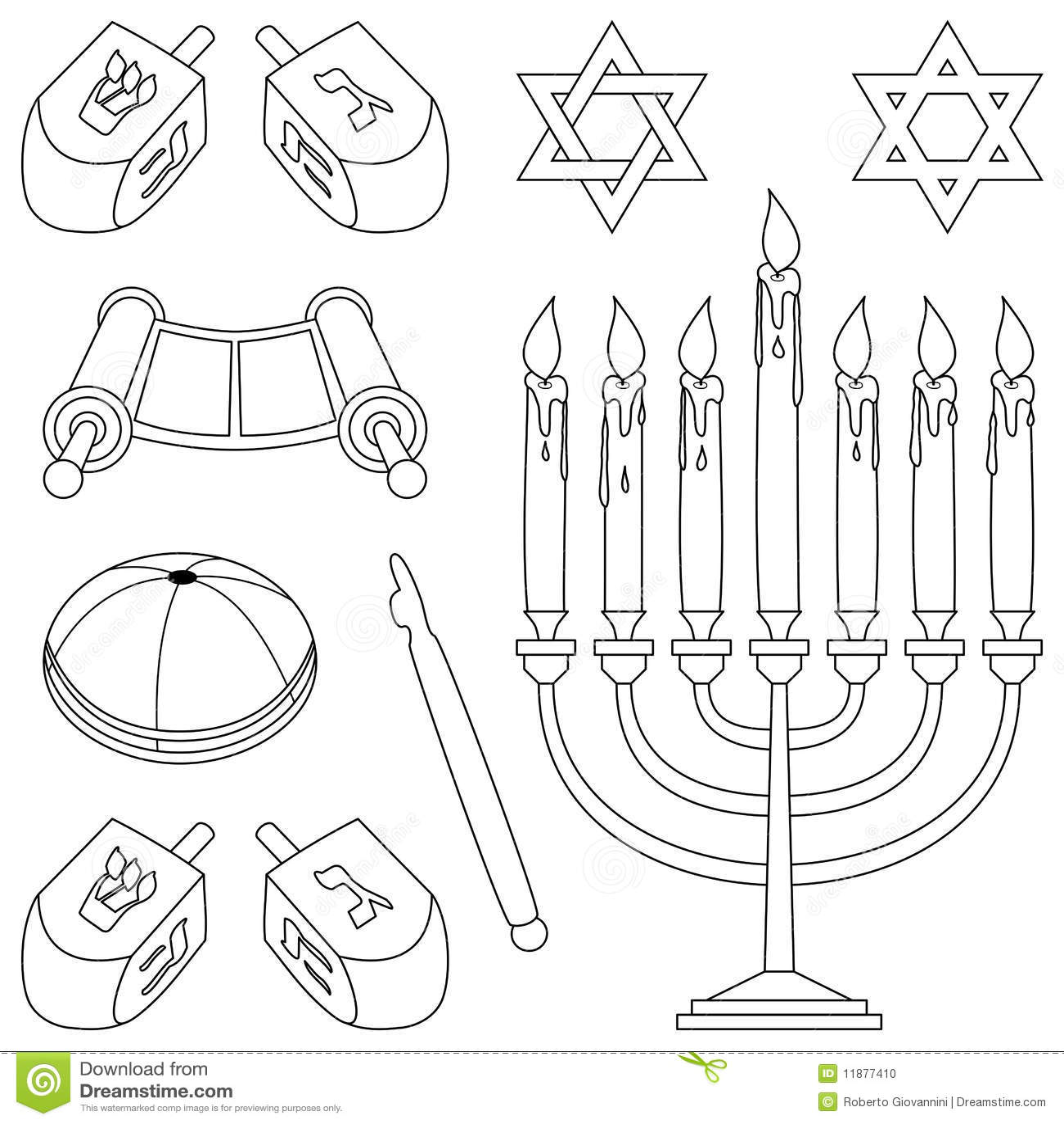 Farbton Judentum Elemente Stockfoto Bild 11877410