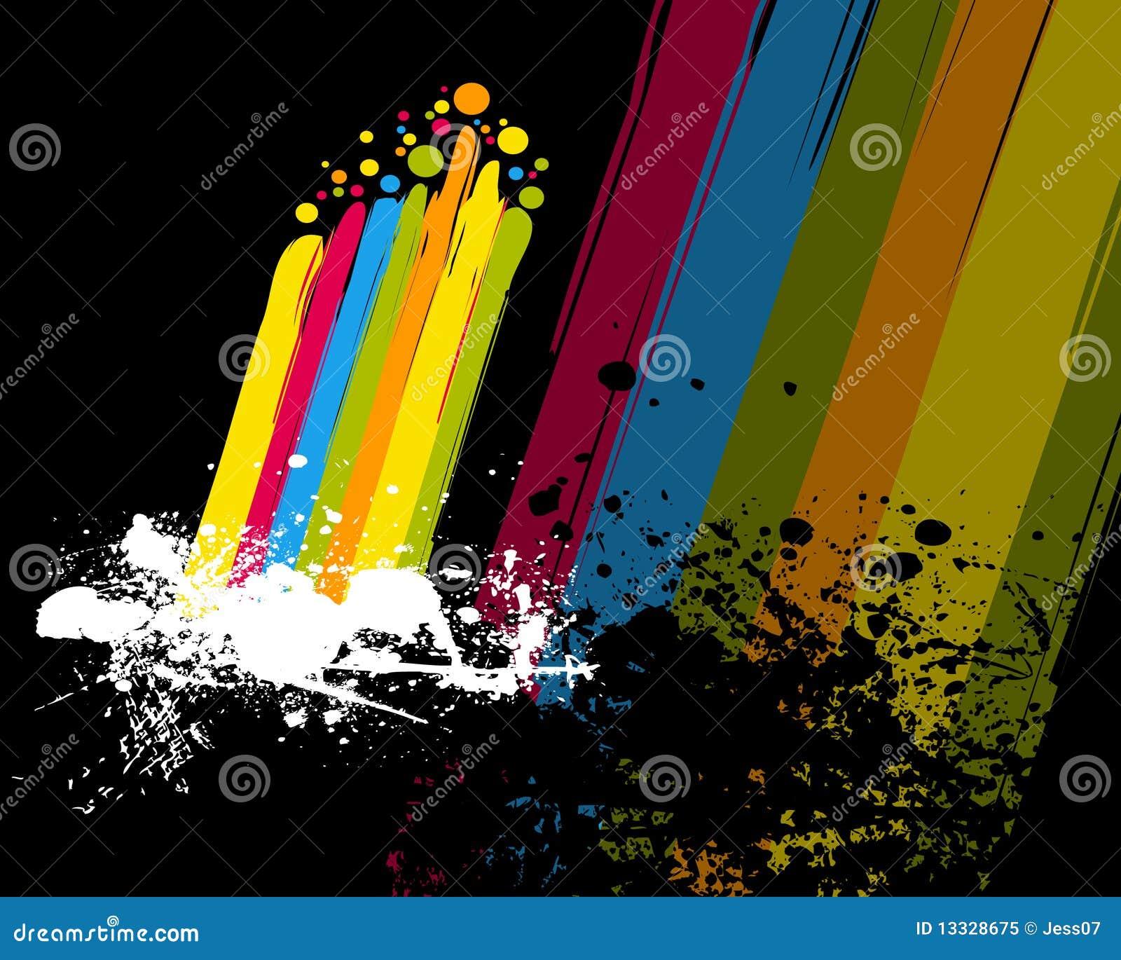 Farby kolorowa tęcza
