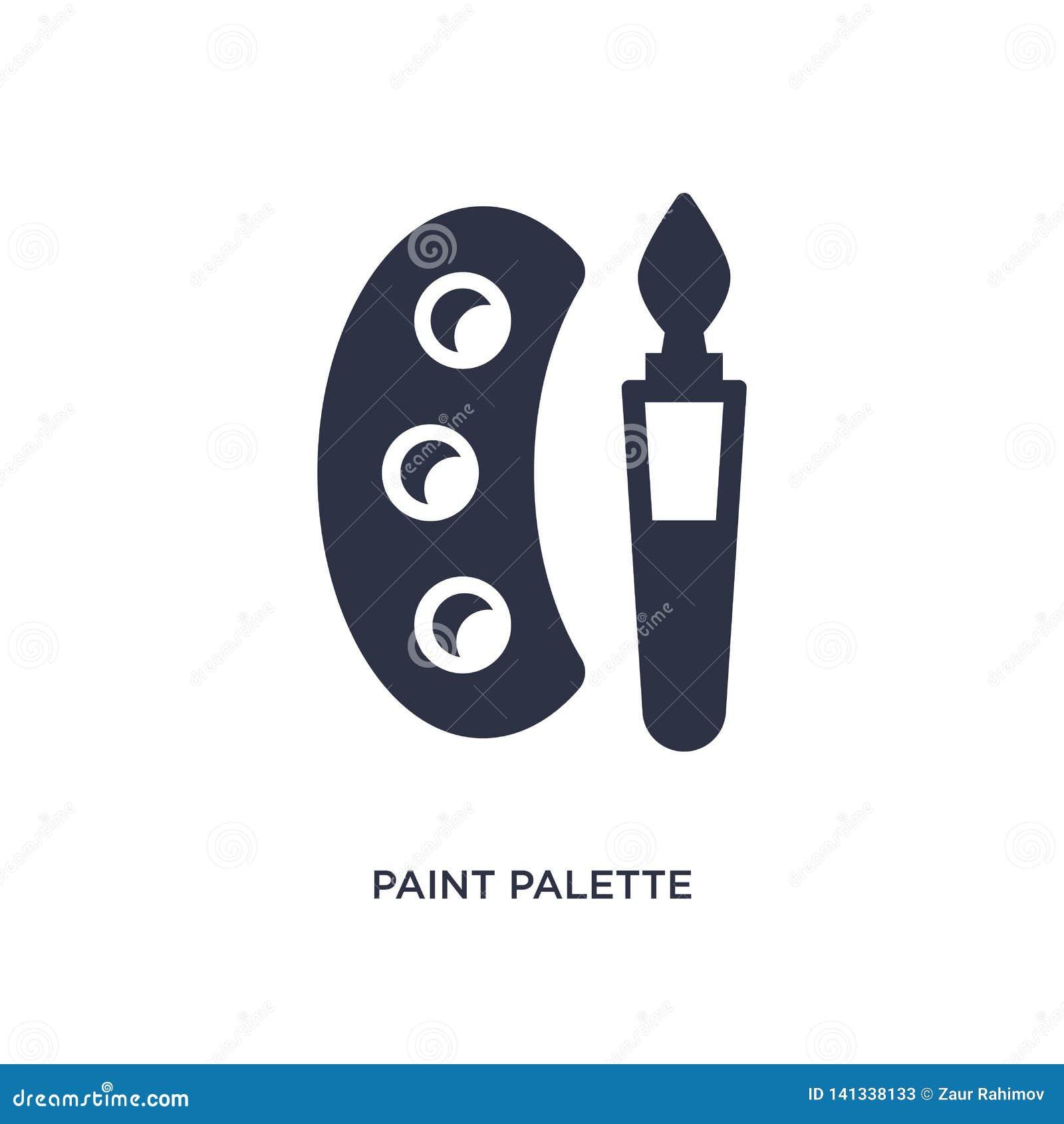 Farby palety ikona na białym tle Prosta element ilustracja od edukacji 2 pojęcia