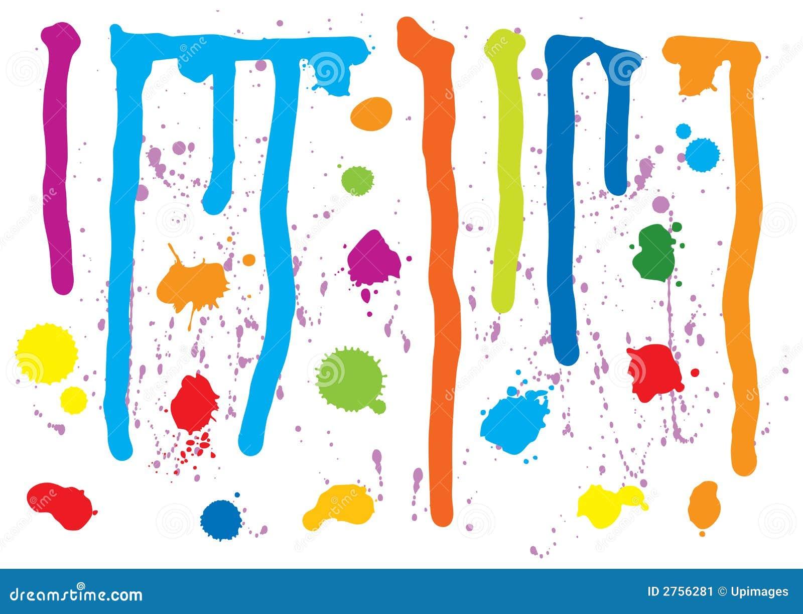 Farby splatters