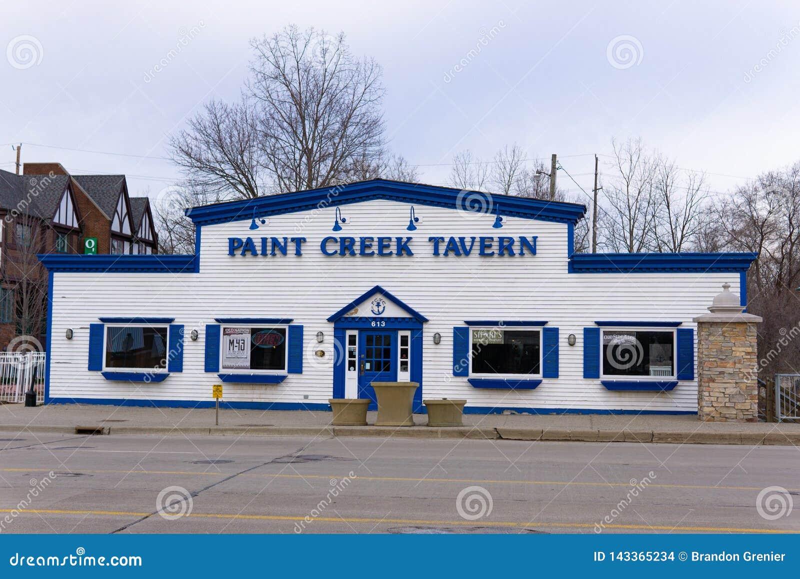 Farby zatoczki tawerna, W centrum Rochester Michigan