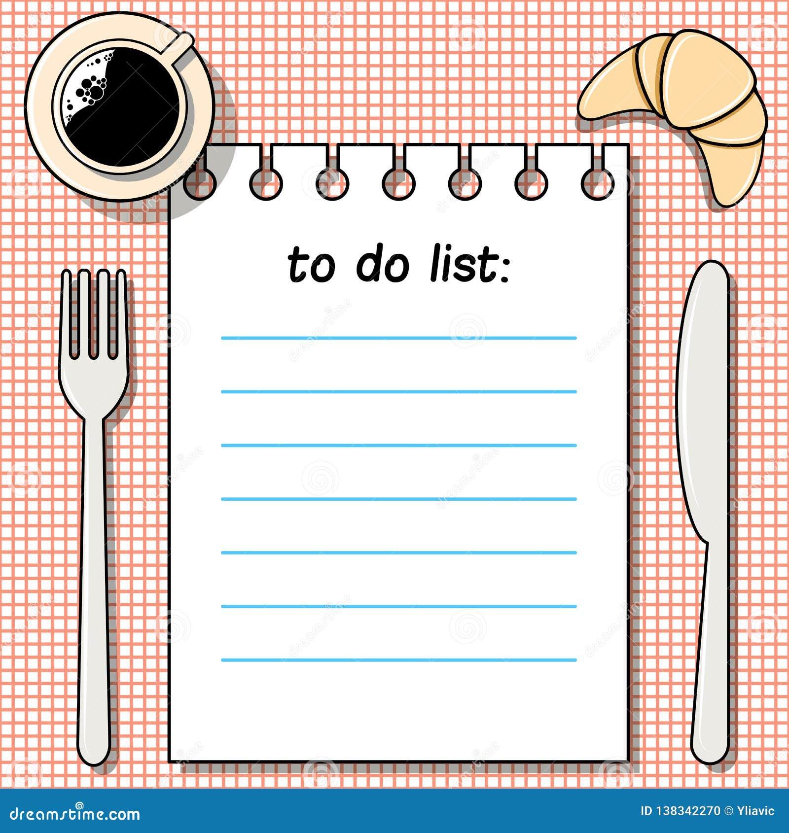 -fare-lista sulla tavola con caffè, il croissant, la forcella ed il coltello