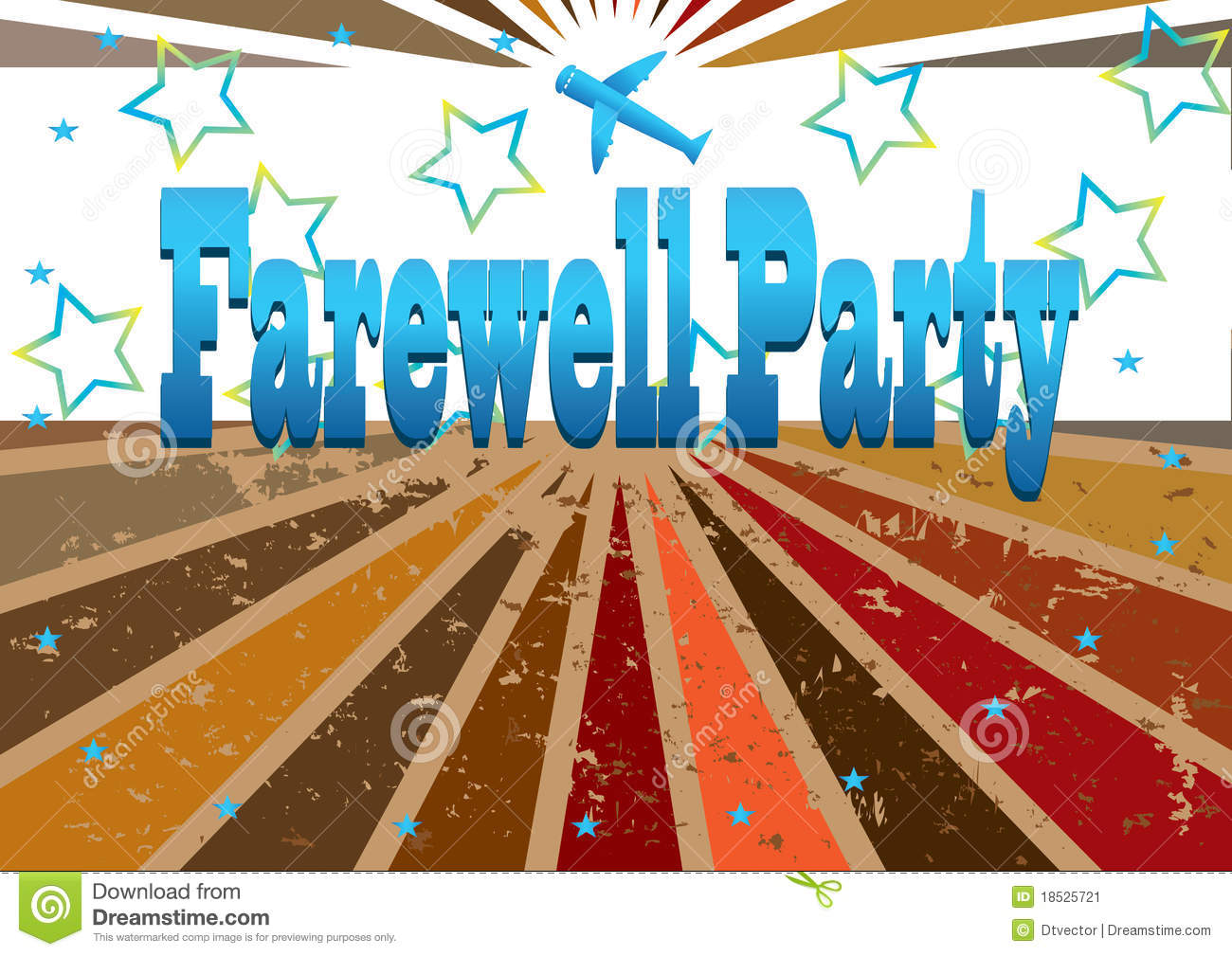 Farewell party banner eps stock vector illustration of for Farewell banner template