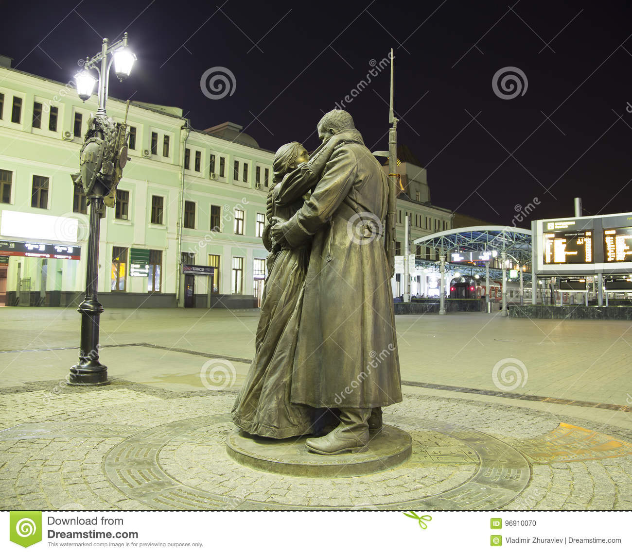 Moscow. Monument to the disassembled railway 6