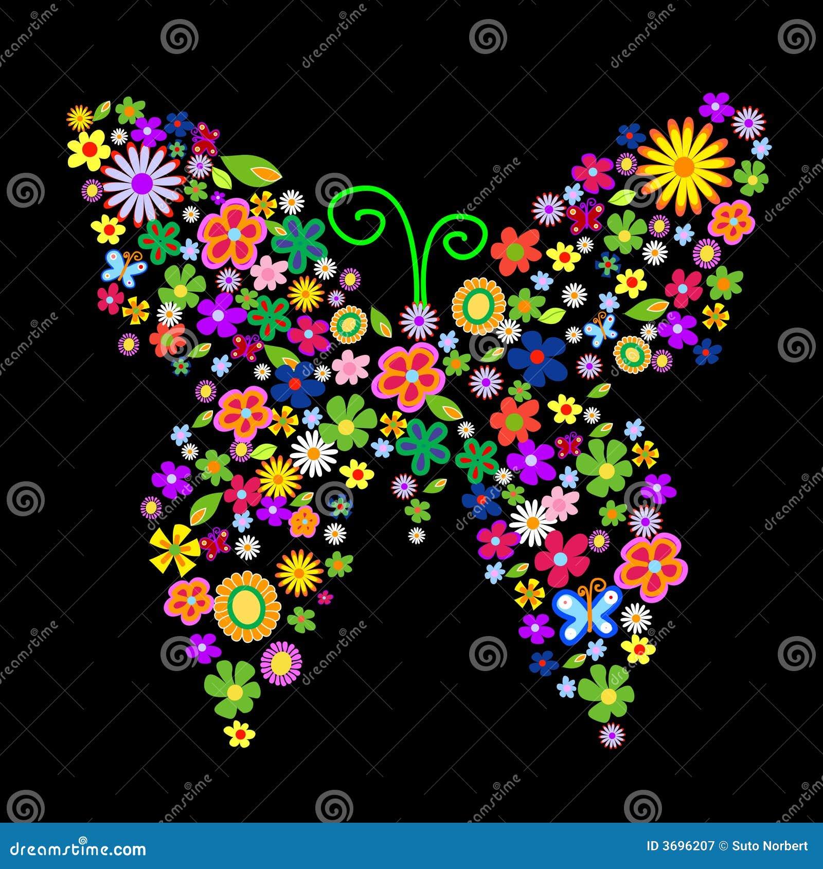 Farfalla del fiore della sorgente