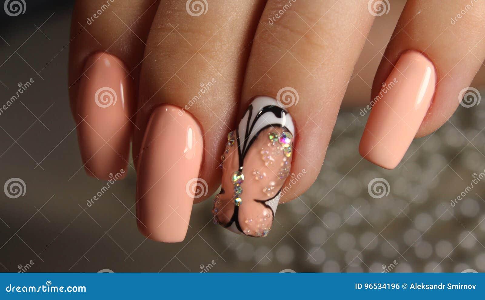 Farfalla Del Manicure Della Gioventù Fotografia Stock Immagine Di