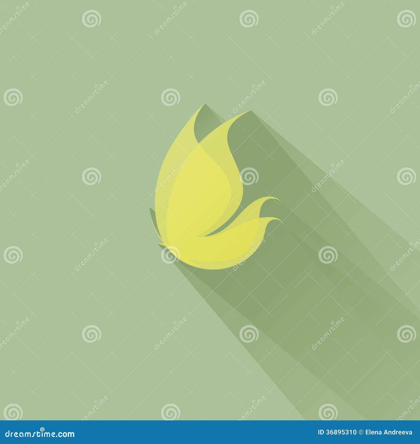 Download Farfalla Gialla Su Un Fondo Verde. Illustrazione Di Vettore Illustrazione Vettoriale - Illustrazione di mosca, illustrazione: 36895310
