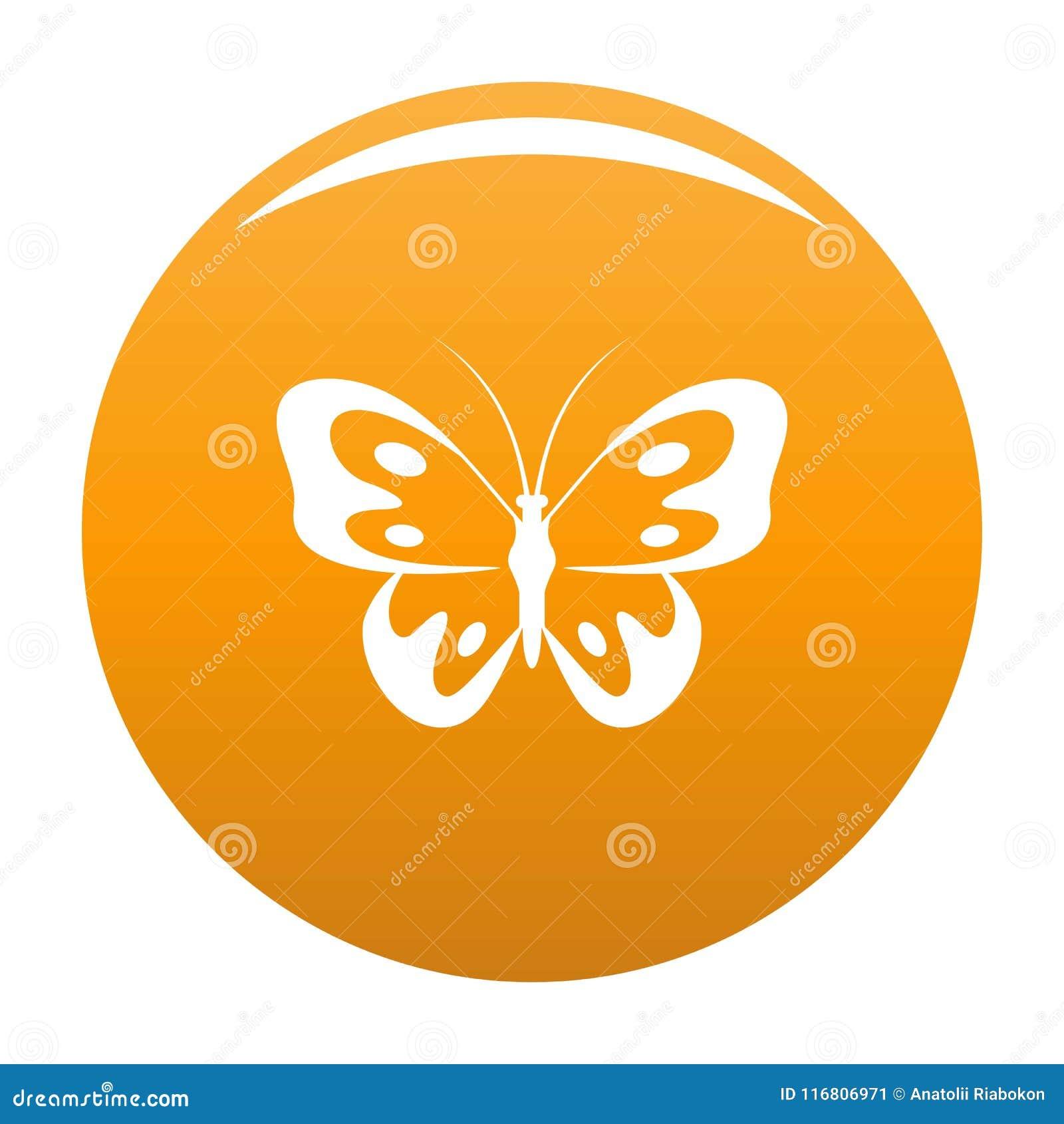 Farfalla nell arancia di vettore dell icona della fauna selvatica