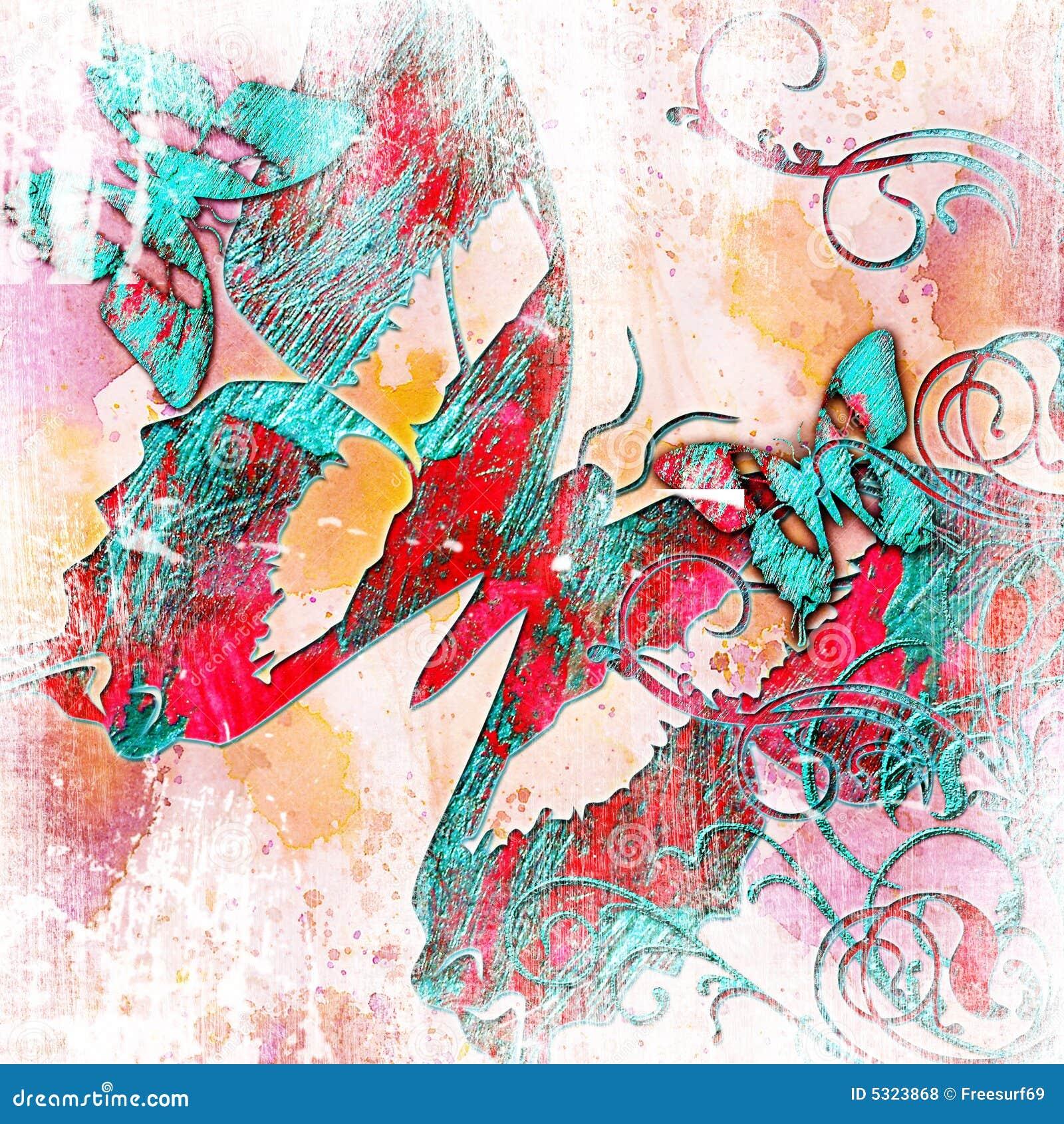 Farfalle astratte illustrazione di stock illustrazione di for Immagini astratte moderne