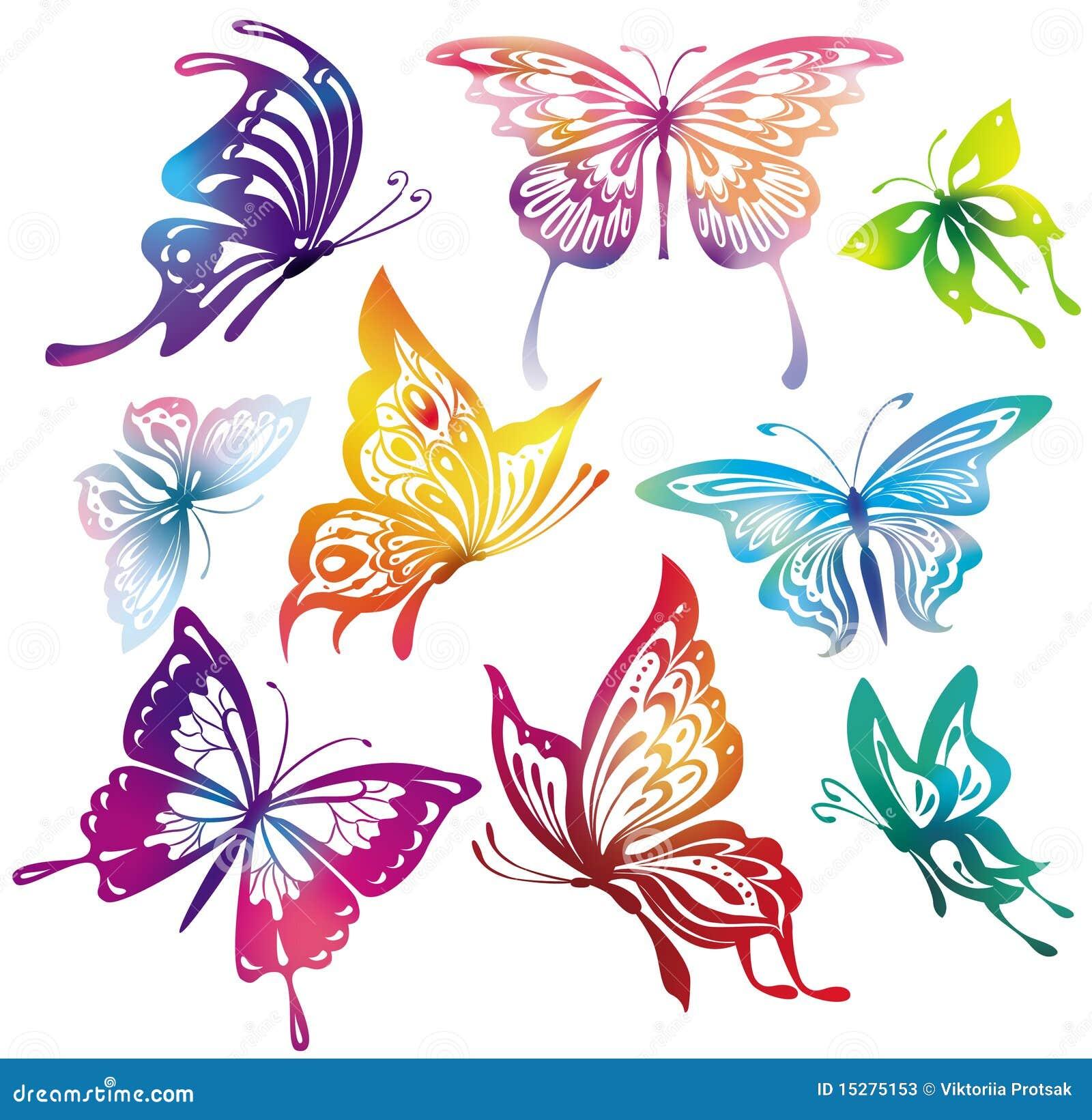 Farfalle colorate fotografie stock immagine 15275153 for Foto farfalle colorate