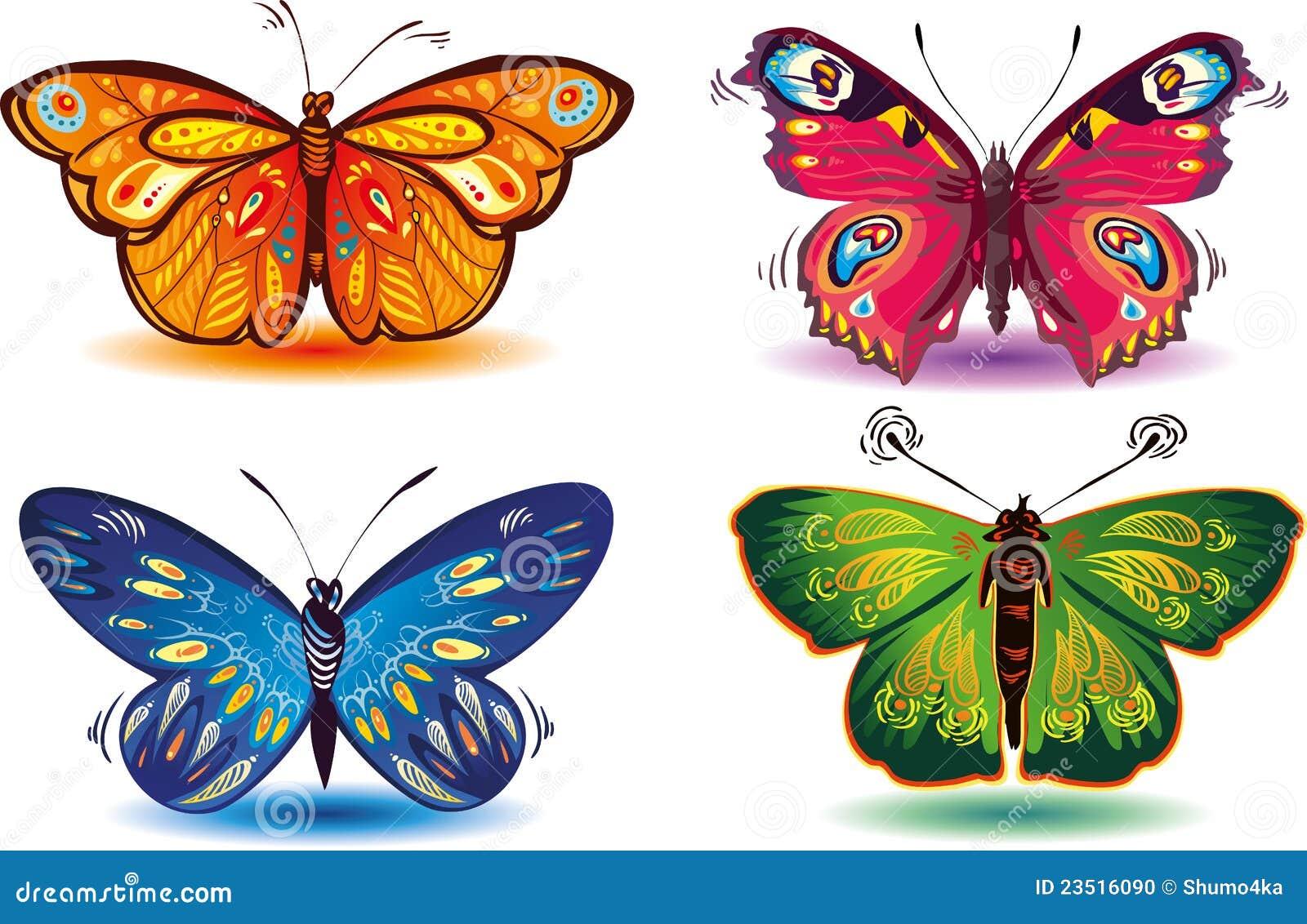 Farfalle colorate fotografia stock immagine 23516090 for Foto farfalle colorate