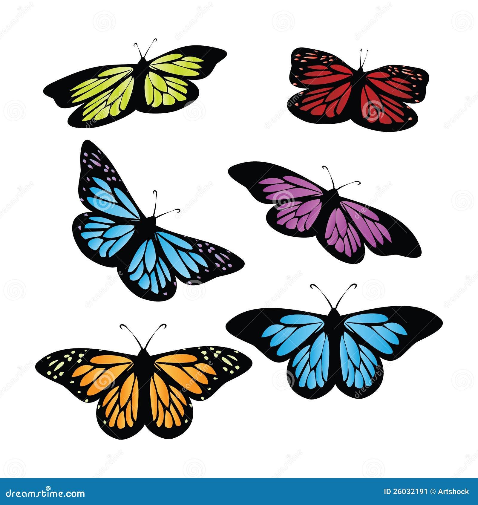 Farfalle colorate immagine stock immagine 26032191 for Foto farfalle colorate