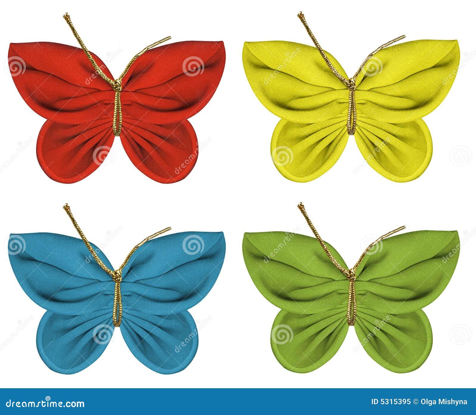 Download Farfalle del tessuto illustrazione di stock. Illustrazione di insetto - 5315395