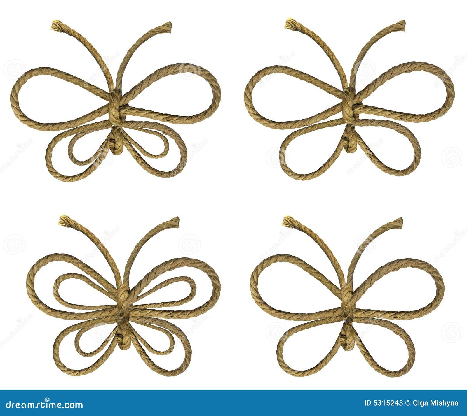 Download Farfalle della corda illustrazione di stock. Illustrazione di quattro - 5315243