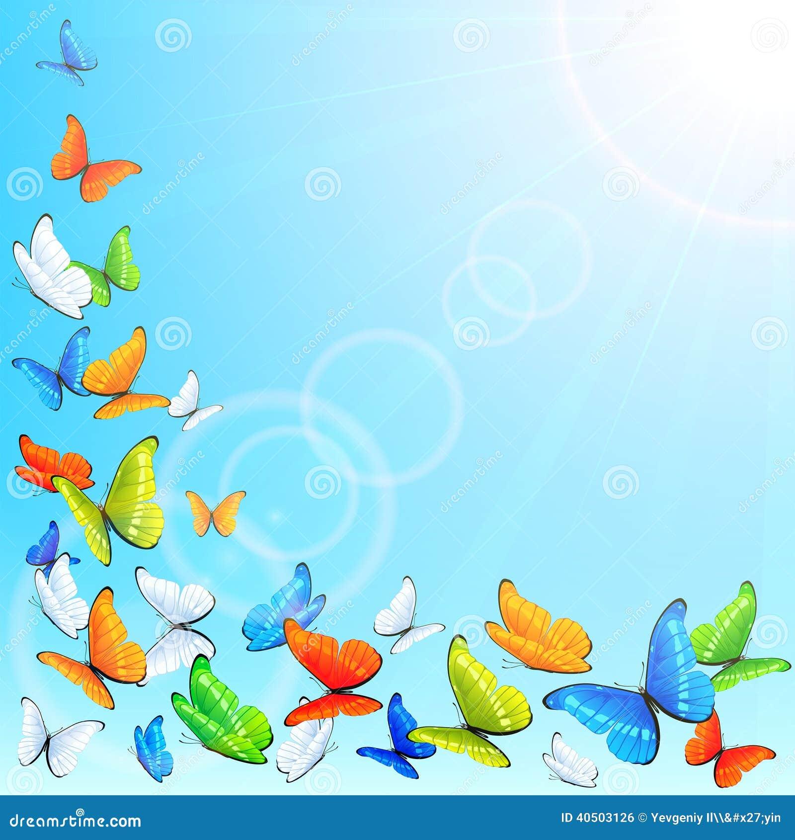 Farfalle di volo illustrazione vettoriale illustrazione for Immagini farfalle per desktop