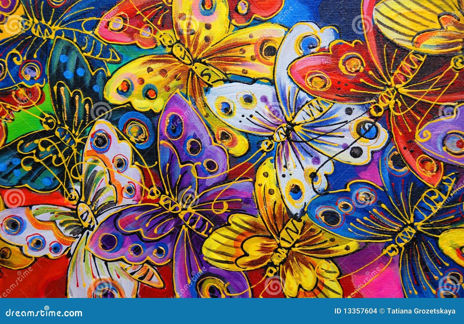 Farfalle luminose illustrazione di stock illustrazione di - Immagini di farfalle a colori ...
