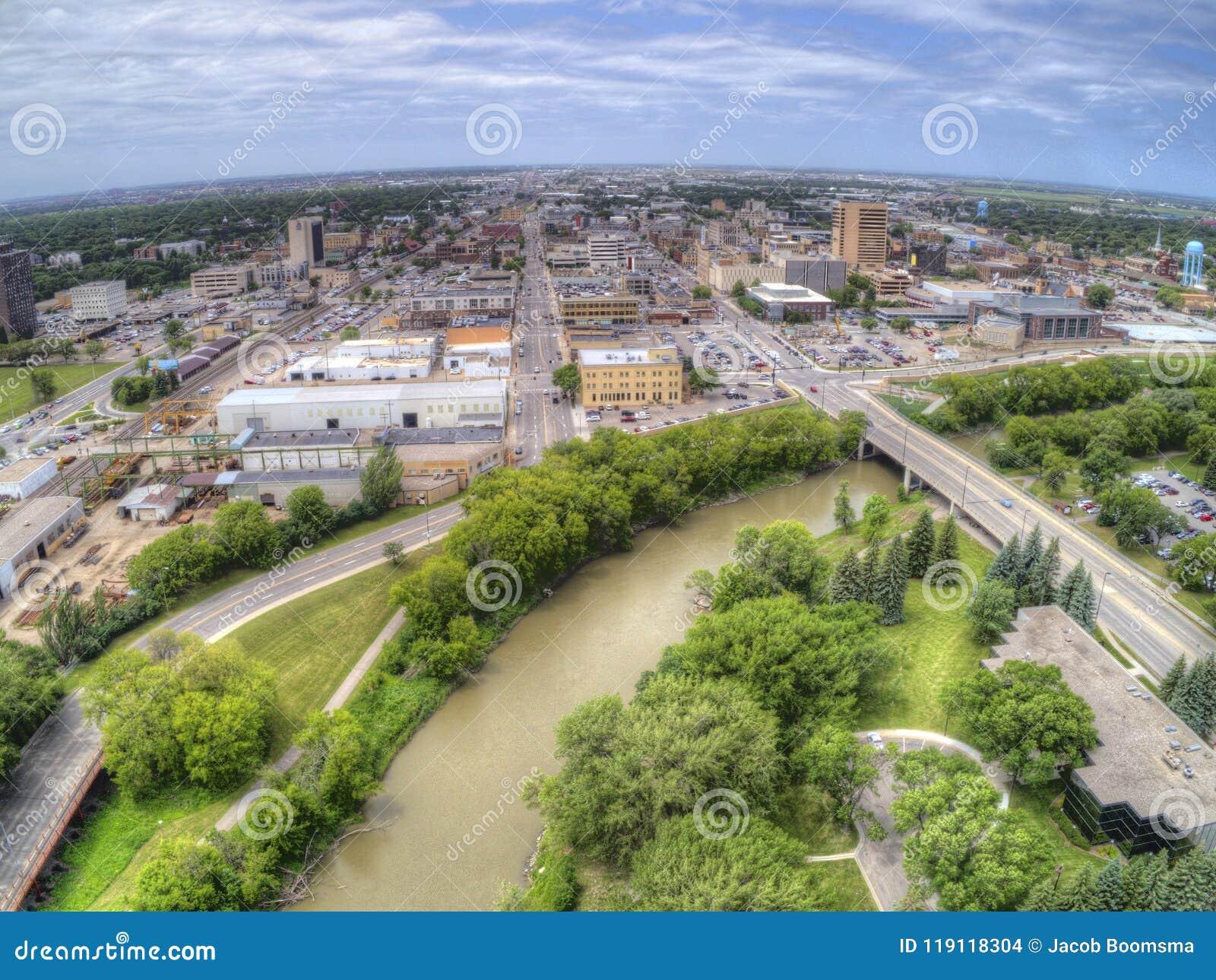 Fargo är den största staden i North Dakota på Redet River