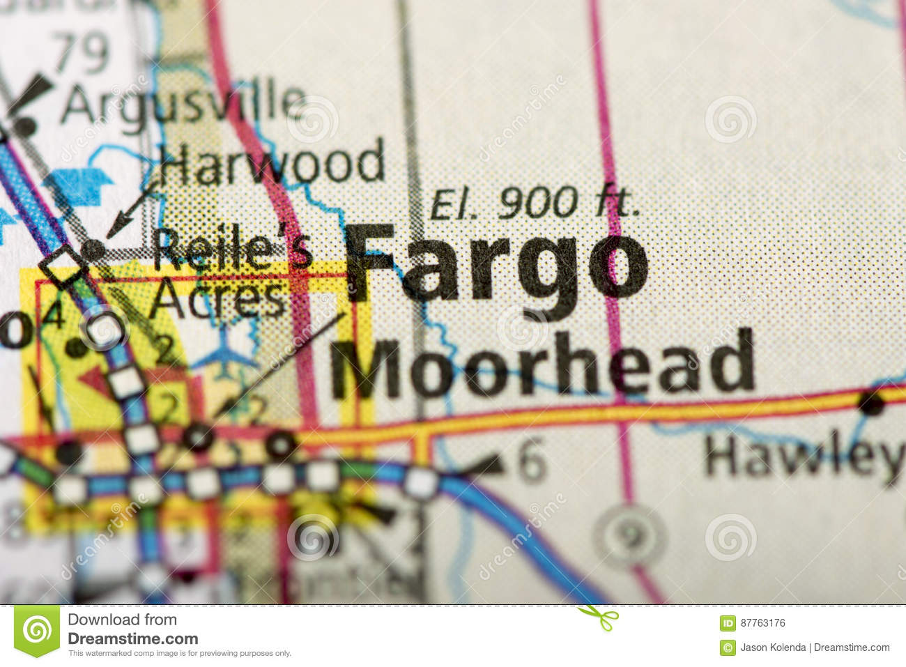 Fargo, North Dakota no mapa