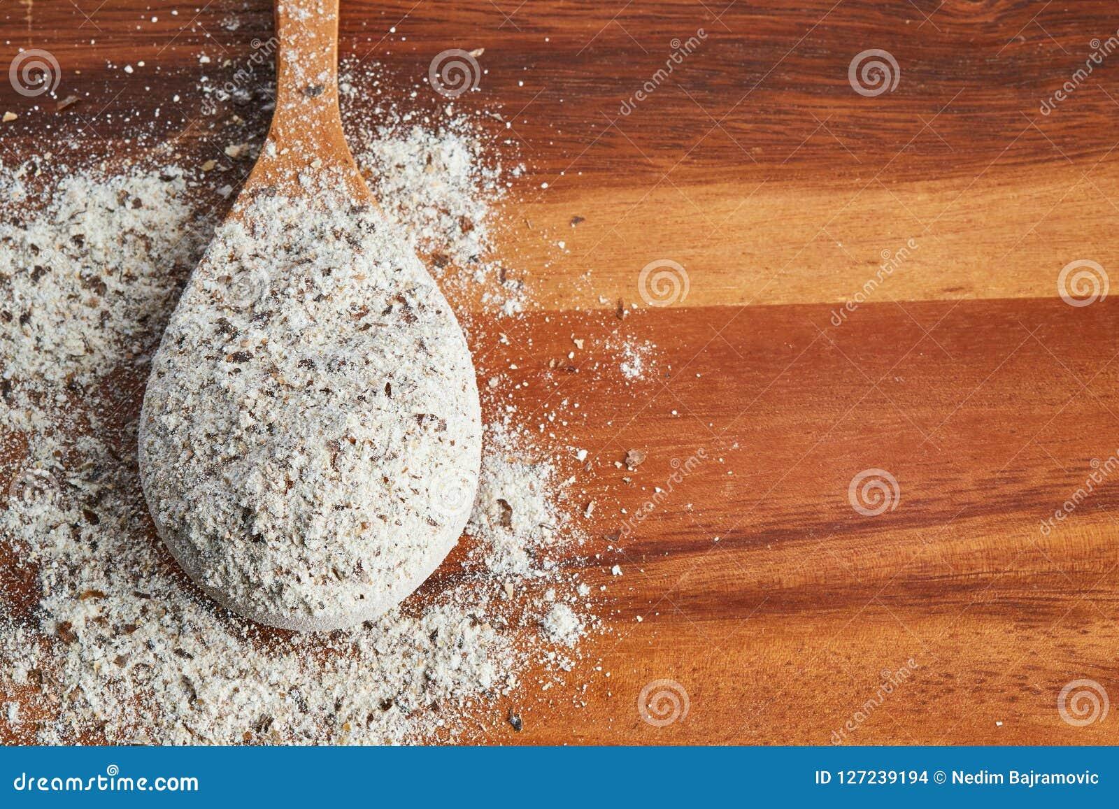 Farinha orgânica do trigo mourisco