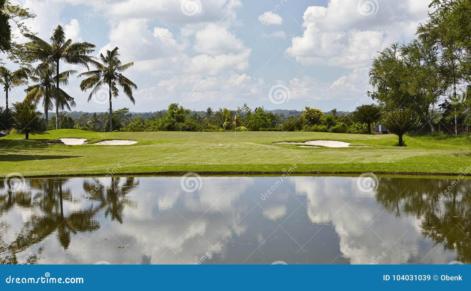 Farled med faror, golfbana för Gec Lombok, Indonesien