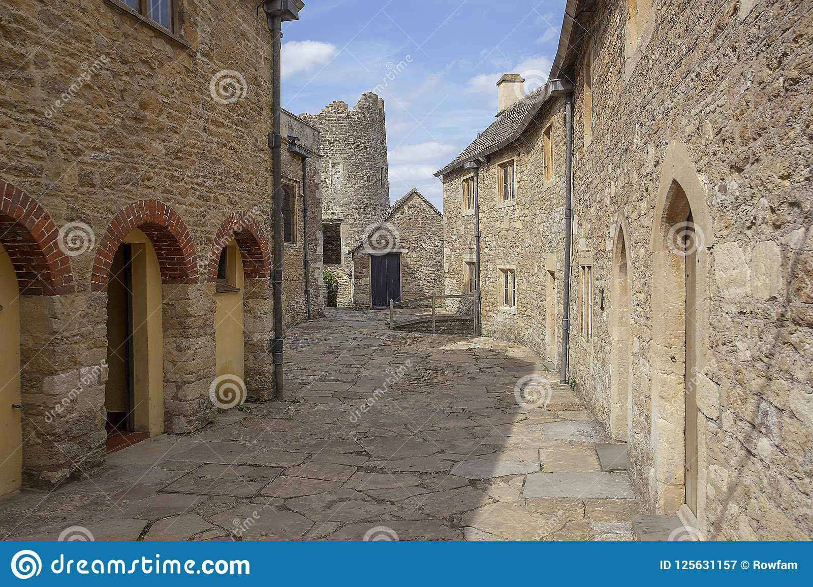 Farleigh Hungerford Castle, Street near priests house