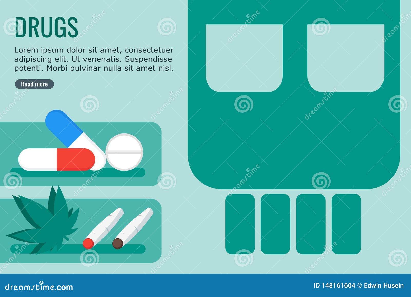 Farliga droger för informationsdiagram