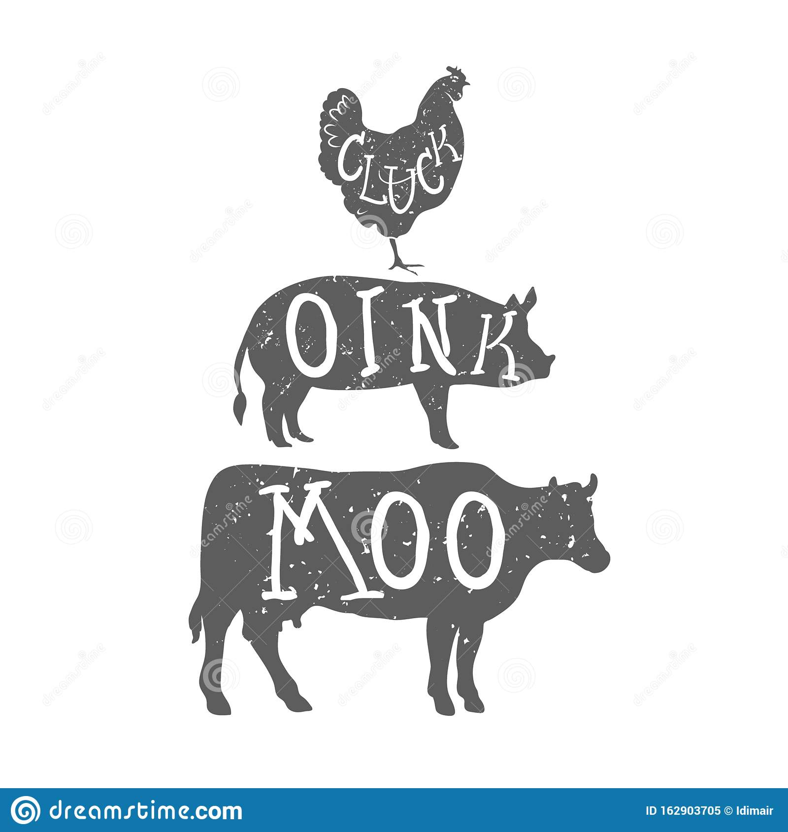 Vector Group Of Animal Farm Label., Cow,pig,chicken. Logo Animal... Royalty Free  Cliparts, Vectors, And Stock Illustration. Image 118387534.