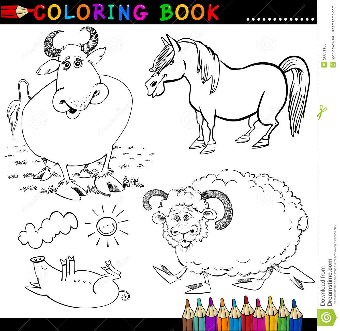 coloring book farm animals - Etame.mibawa.co