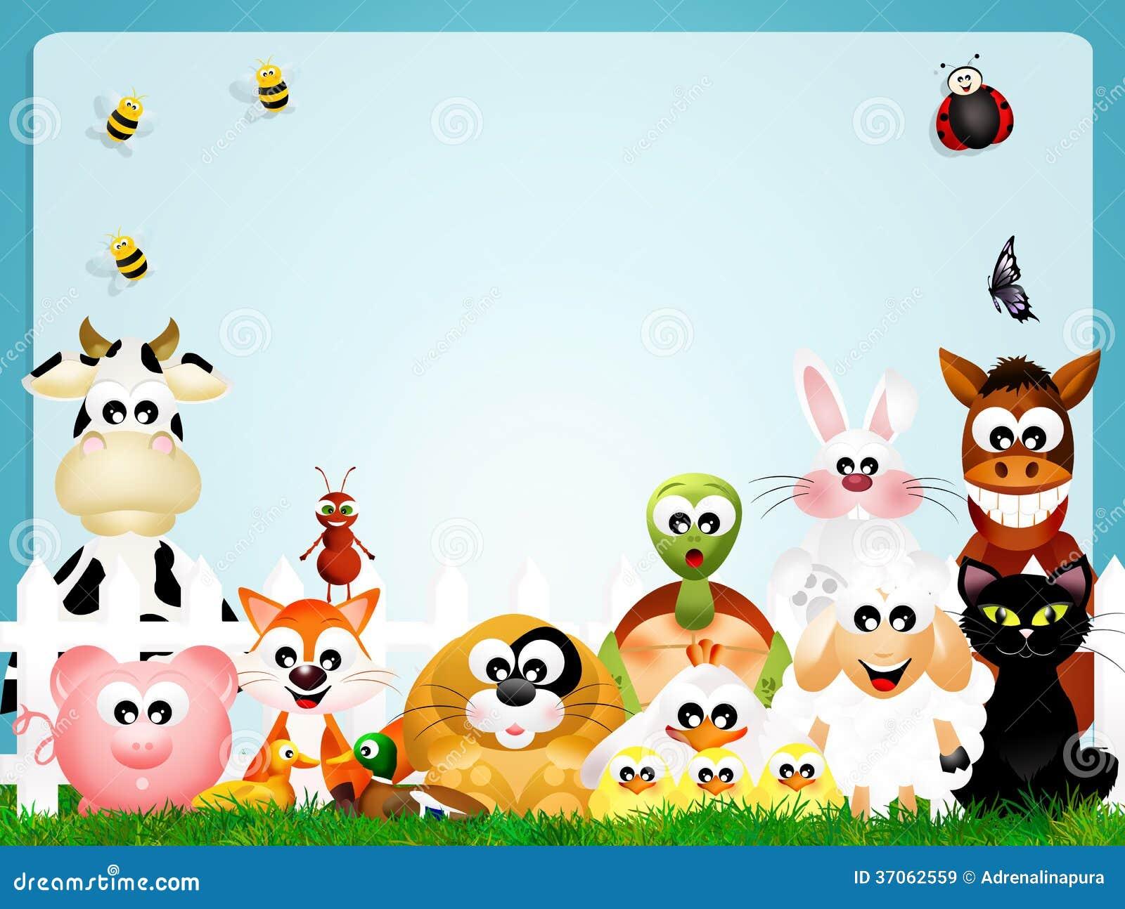 Farm Animals Frame Stock Illustration Illustration Of