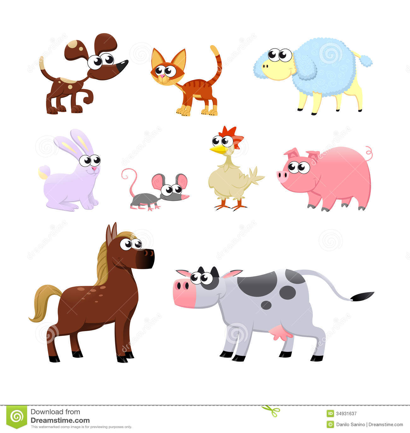 farm animals stock vector illustration of horse illustration