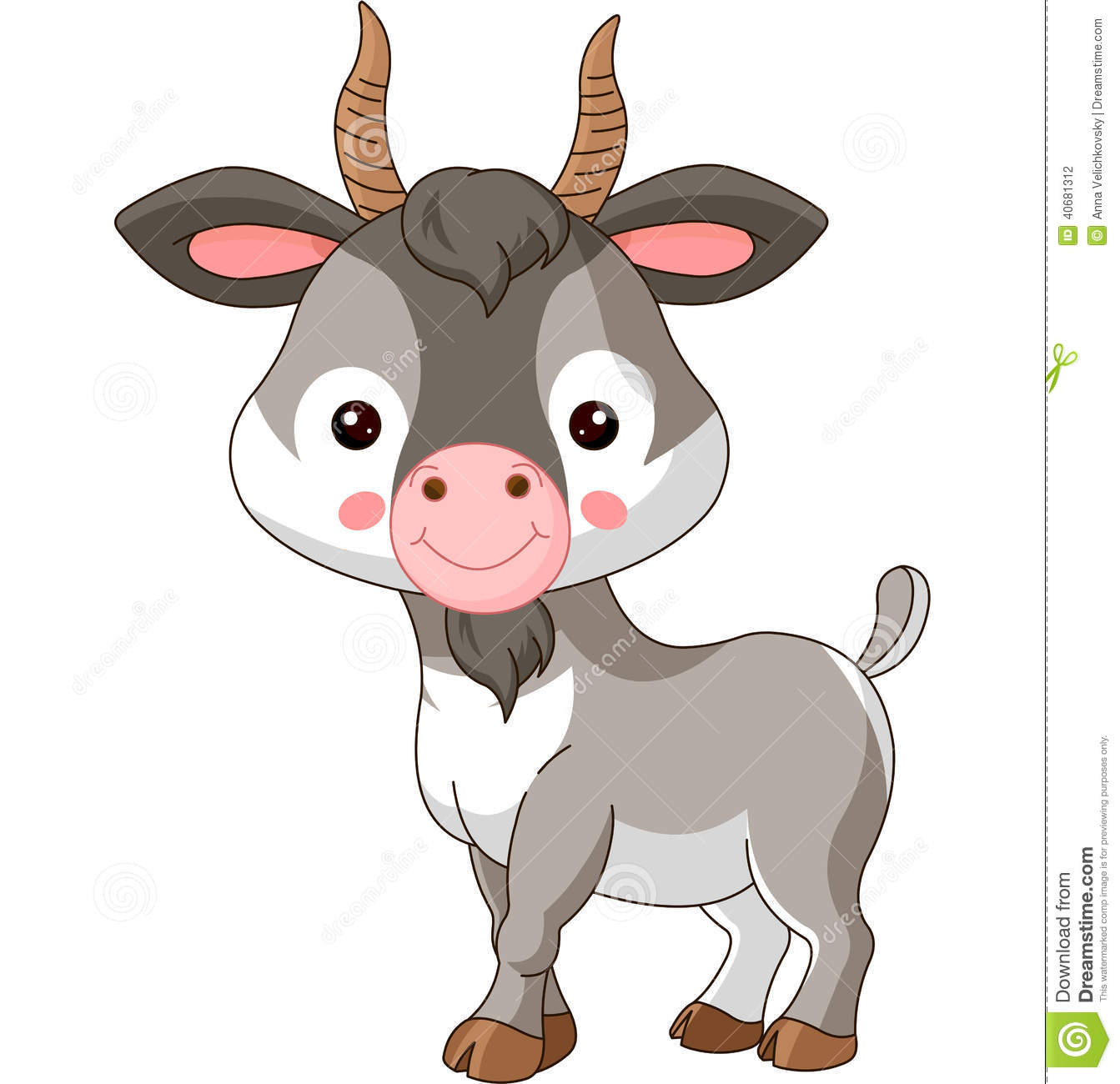 Farm Animals. Goat Stock Vector - Image: 40681312