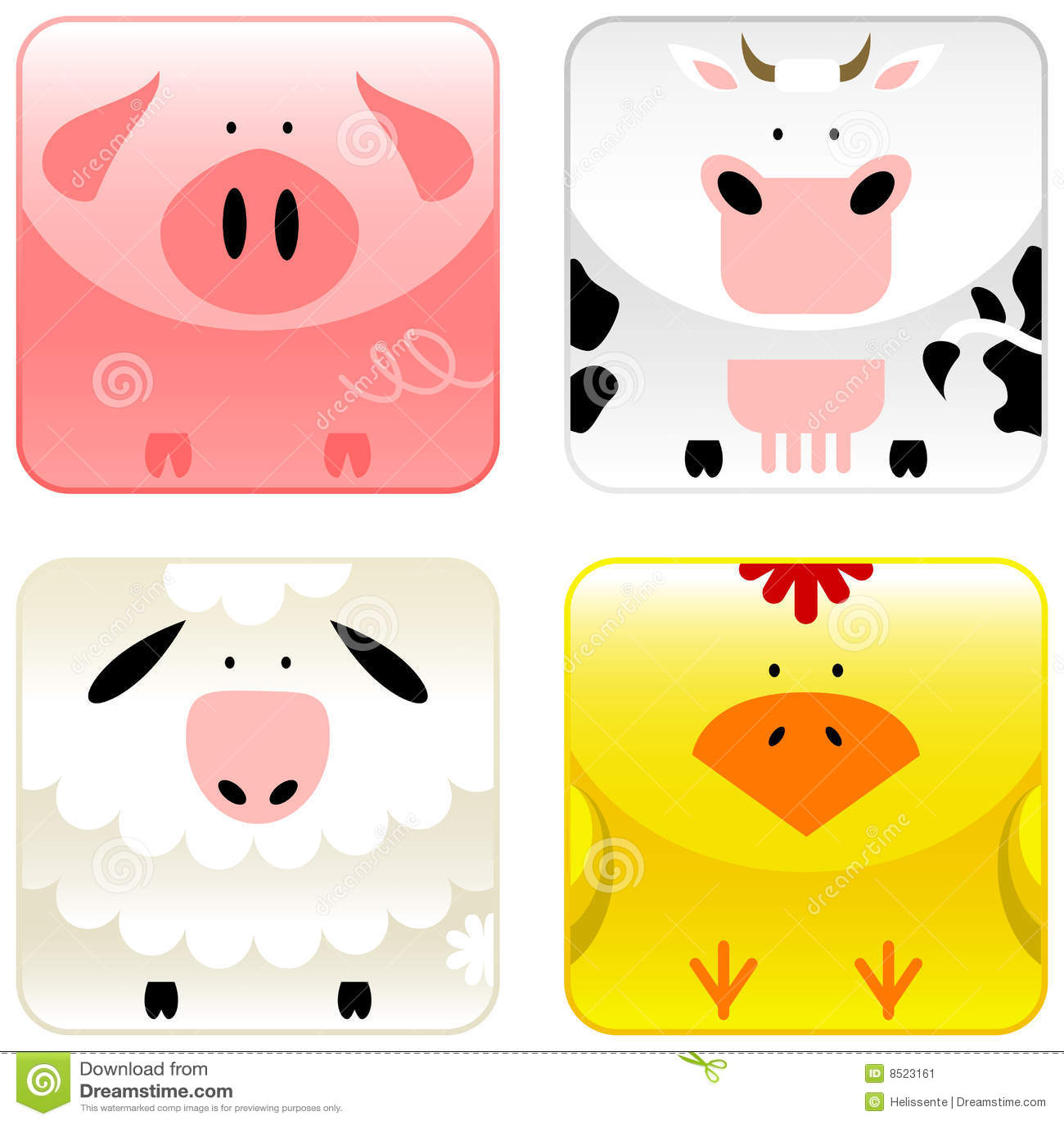 Farm animals - icon set 1