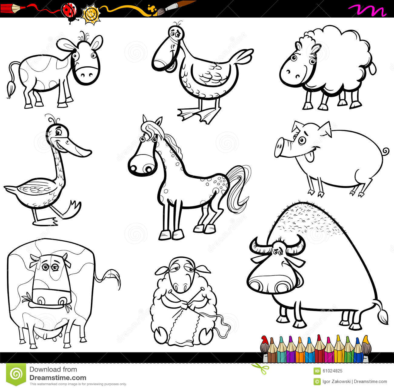 barnyard coloring pages characters - photo#7