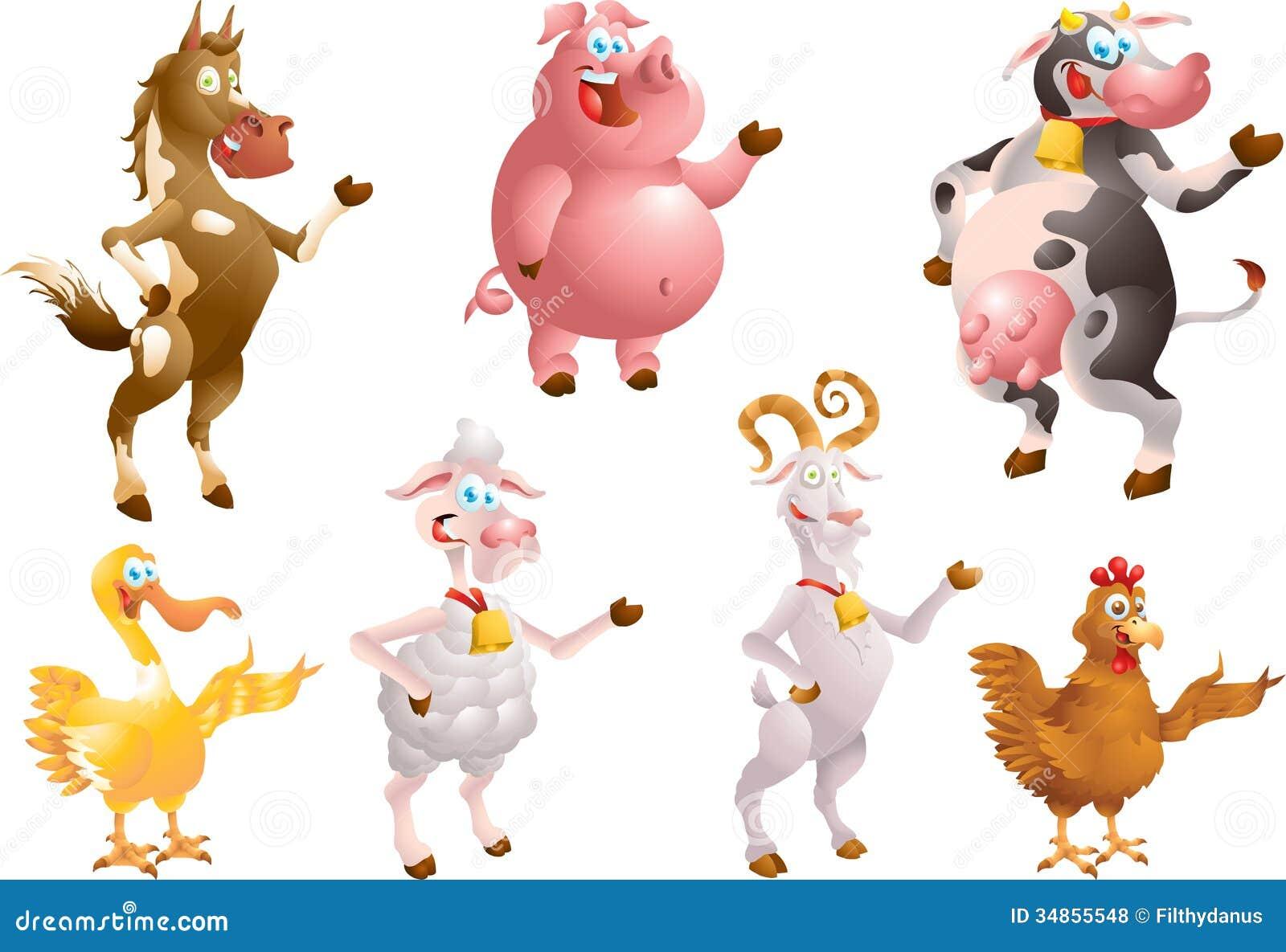 Farm animals stock illustration. Image of hoof, cheerful ...