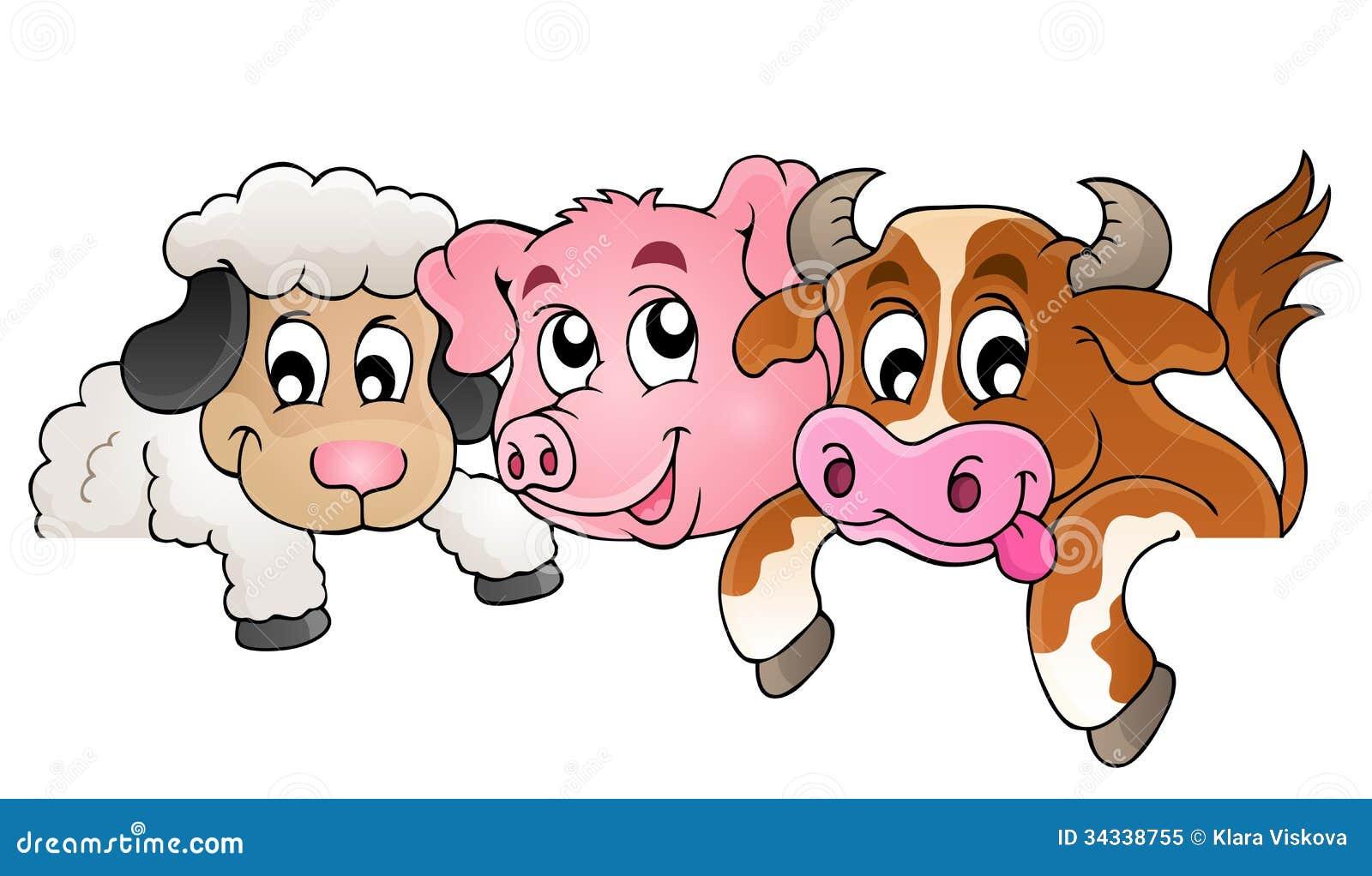 Farm animals topic image 1 - eps10 vector illustration.