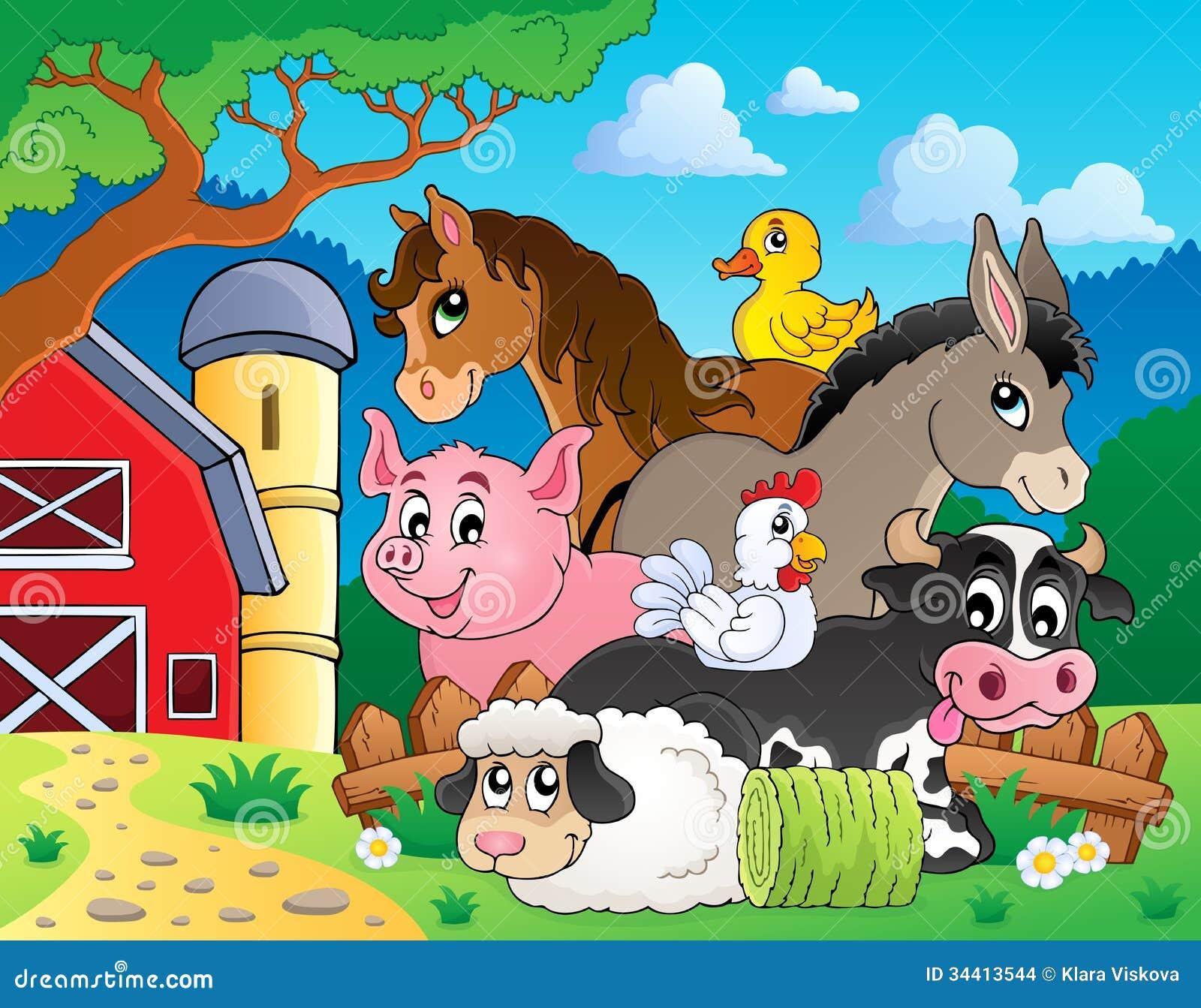 Farm Animals Topic Image 3 Stock Images Image 34413544