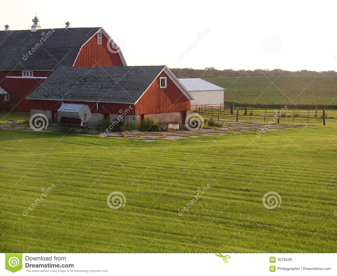 Farm building in the country