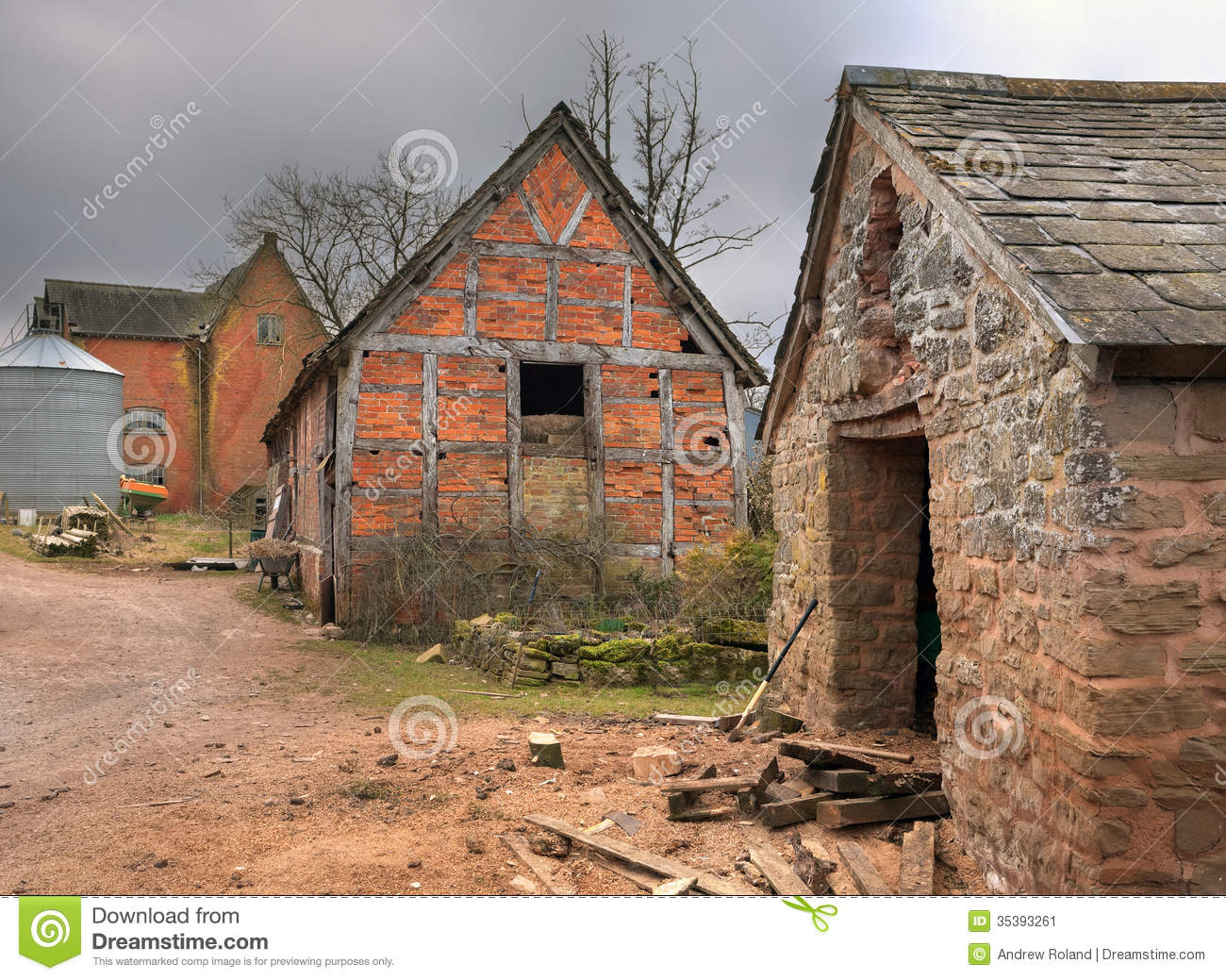 Farm Buildings England Stock Image Image