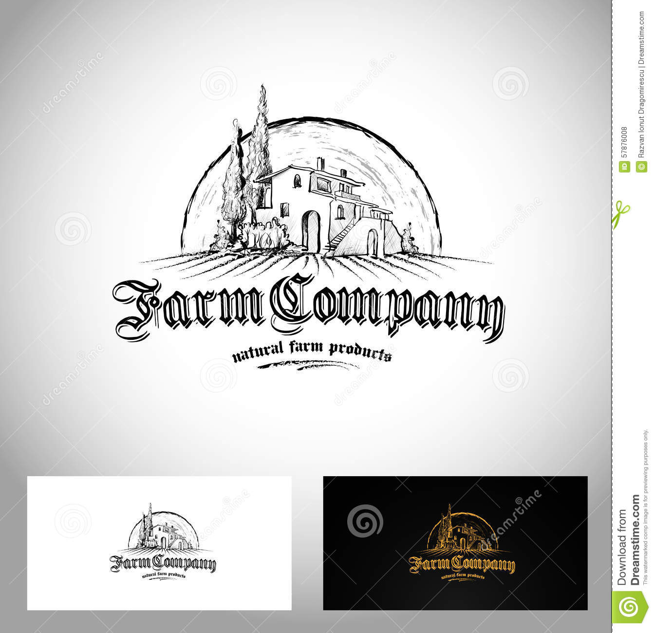 Farm Company Logo stock vector. Image of background, business ...
