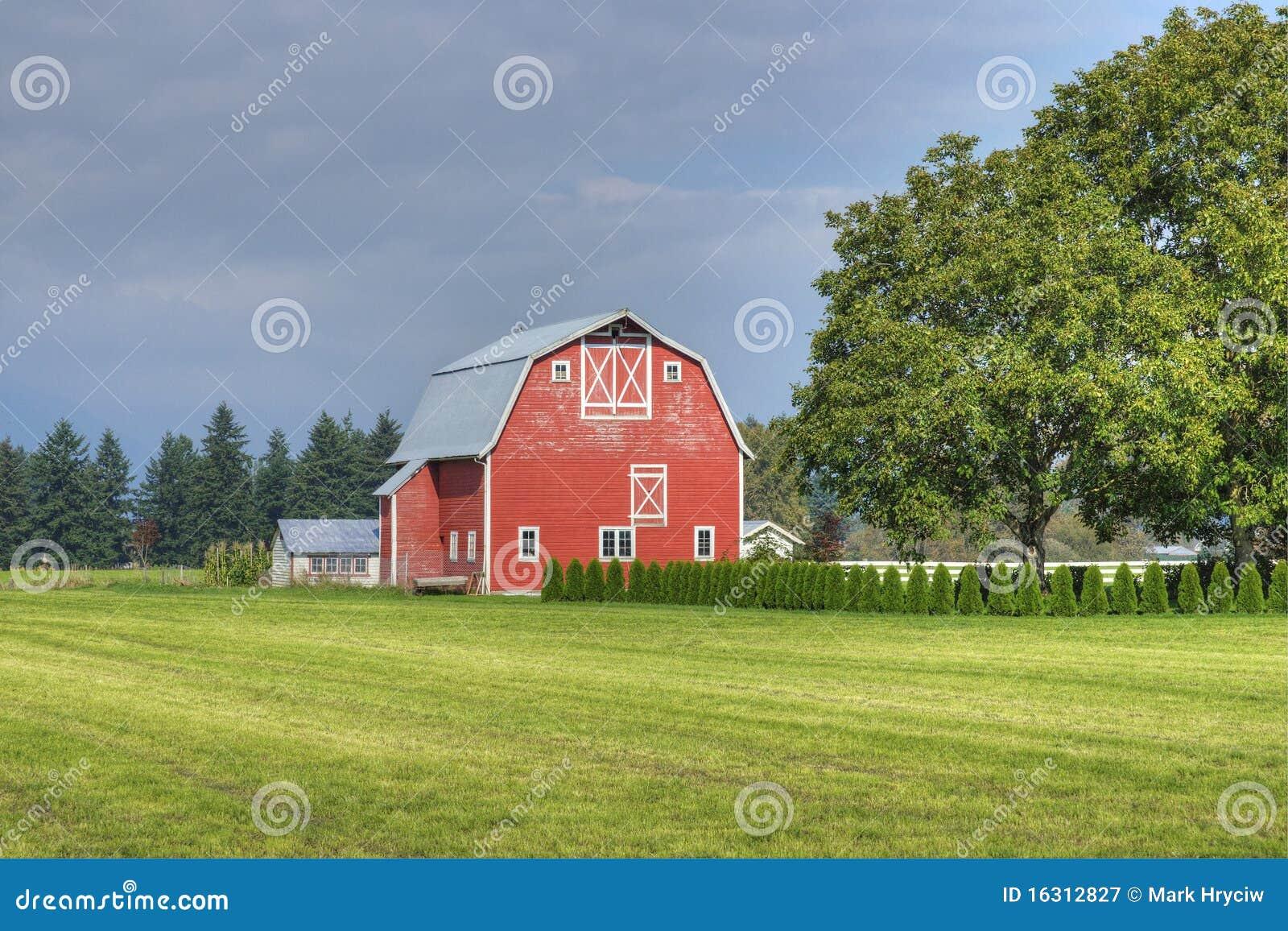 farm country scene stock image image of chilliwack barn 16312827