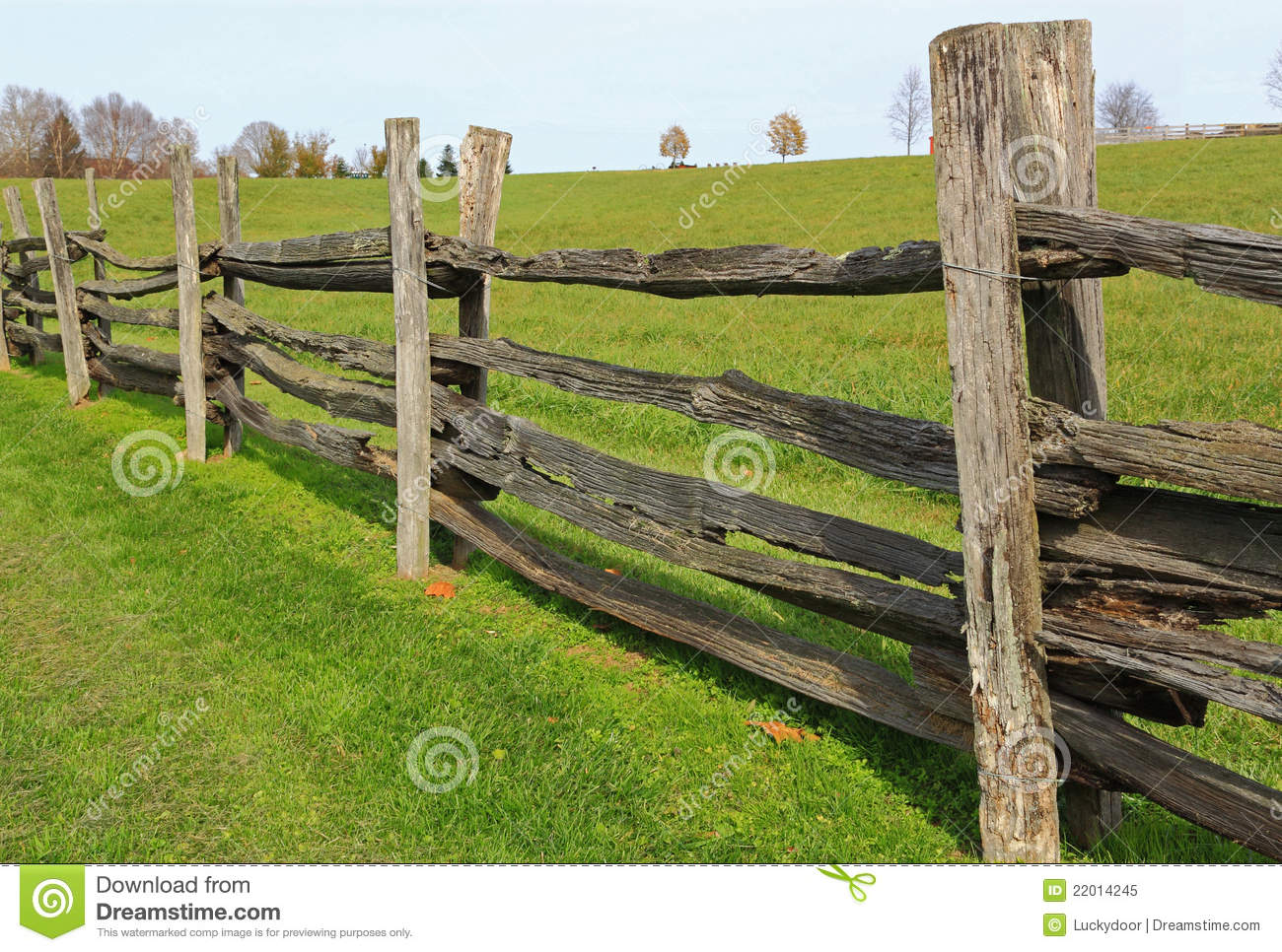 Farm Wood Fence Stock Image Image Of Green Farms