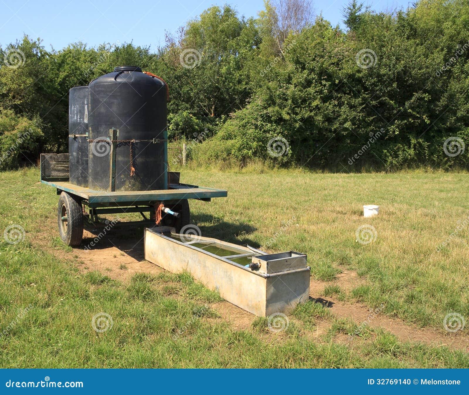 Farm Field Water Trough Stock Photo Image 32769140
