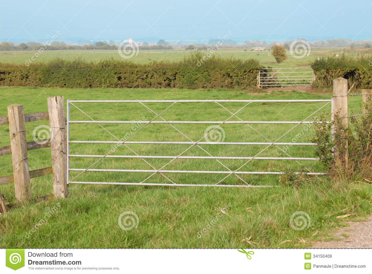 Farm gates royalty free stock images image