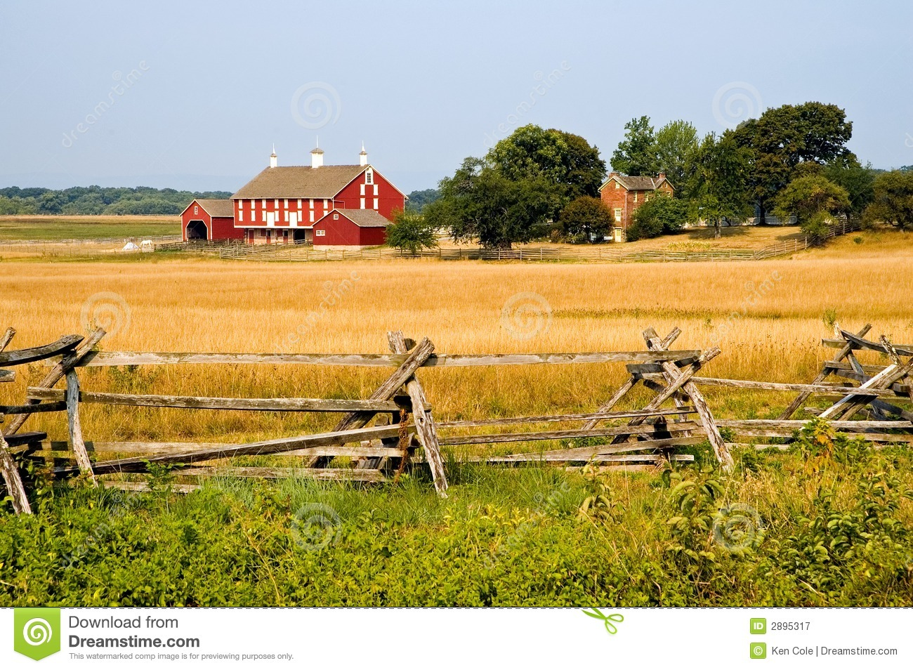 Farm At Gettysburg Royalty Free Stock Photography Image