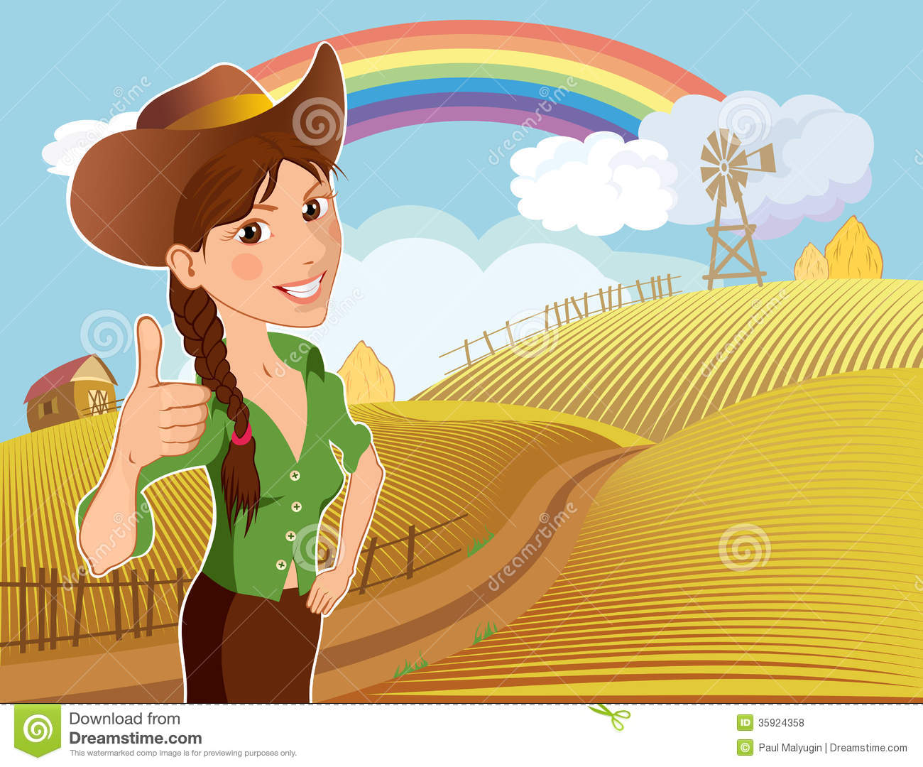 Farm Girl Cartoon Character Royalty Free Stock Photos ...