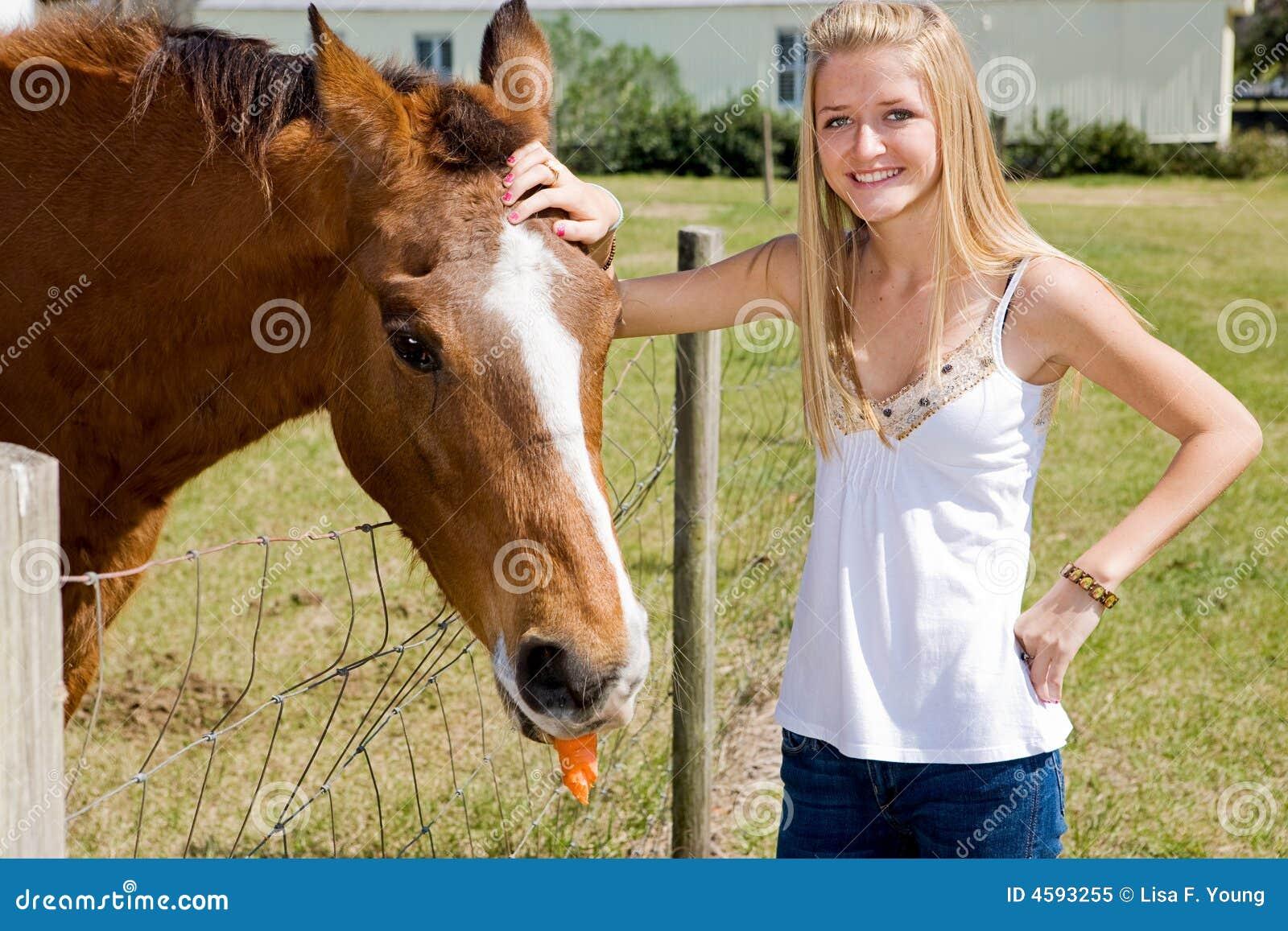 Young teen farm girls