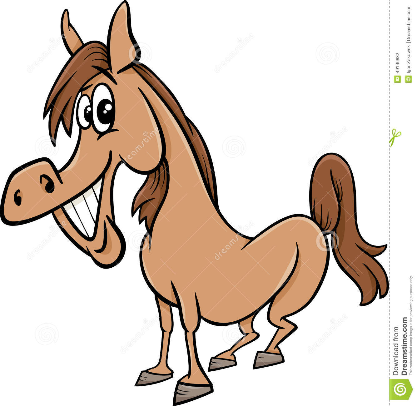 how to draw a horse funny
